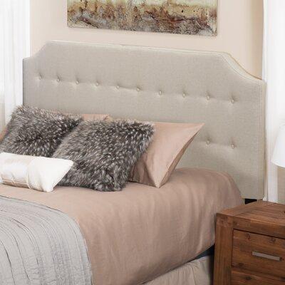 Lynnwood Upholstered Panel Headboard Upholstery: Linen