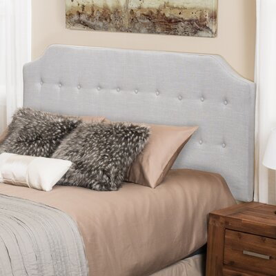 Lynnwood Upholstered Panel Headboard Upholstery: Light Gray