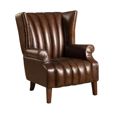 Grisson�Leather�Wingback Chair