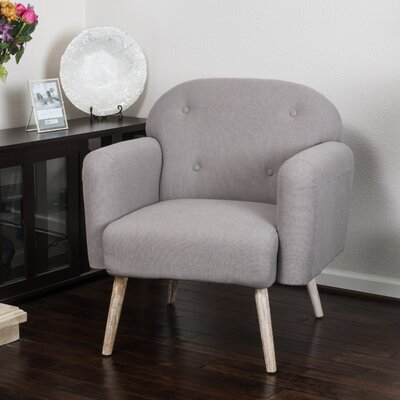 Haley Armchair Upholstery: Stone Grey