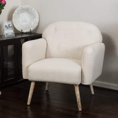 Haley Arm Chair Color: Beige
