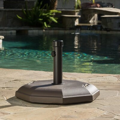Concrete Umbrella Base Color: Brown