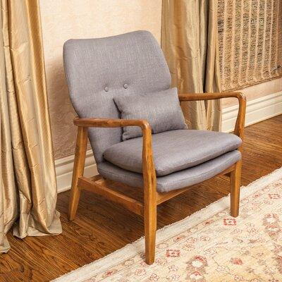 Andersen Accent Armchair Upholstery: Grey