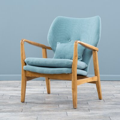 Isabella Accent Arm Chair Upholstery: Light Blue