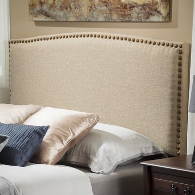 Carlsbad Upholstered Panel Headboard Color: Canvas