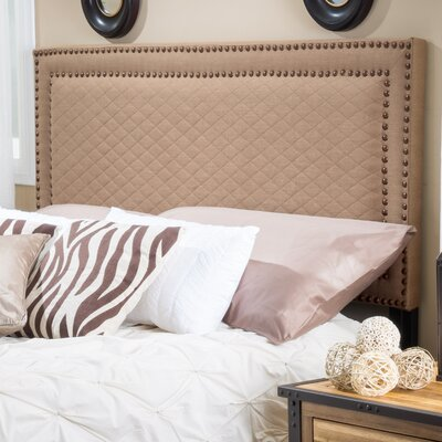 Xavier Upholstered Panel Headboard Upholstery: Coffee