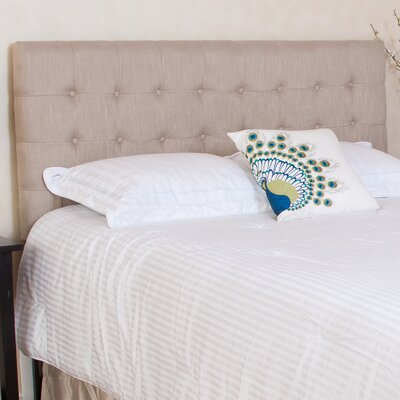 Preakness Upholstered Panel Headboard Upholstery: Beige