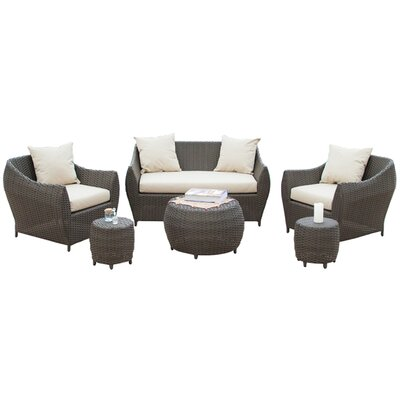 Beaufort 6 Piece Seating Group with Cushions