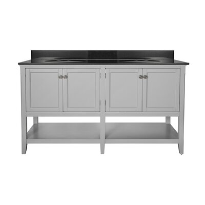 "Auguste 60"" Bathroom Vanity Base Base Finish: Gray"
