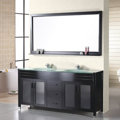 Remi 61 Double Bathroom Vanity Set with Mirror
