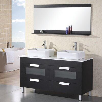 Warren 55 Double Bathroom Vanity Set with Mirror