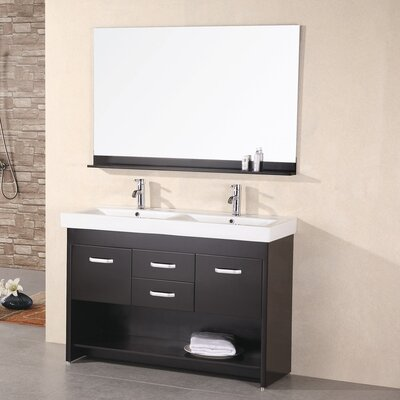 Braxton 48 Double Bathroom Vanity Set with Mirror