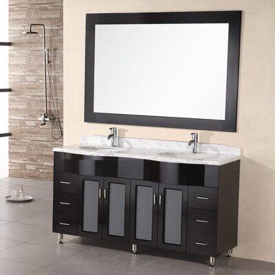 Lucca 61 Double Bathroom Vanity Set with Mirror