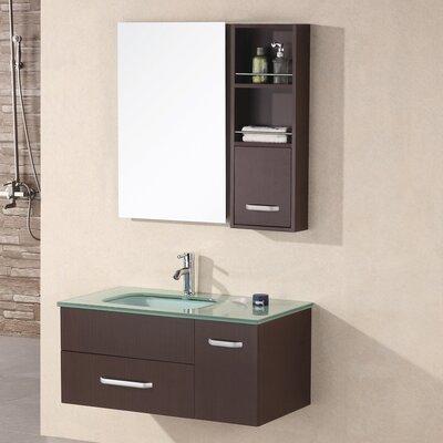 Ariel 35 Single Bathroom Vanity Set with Mirror