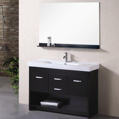 Braxton 48 Single Bathroom Vanity Set with Mirror