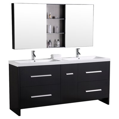Royal 72 Double Bathroom Vanity Set with Mirror