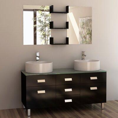 Westin 55 Double Bathroom Vanity Set with Mirror