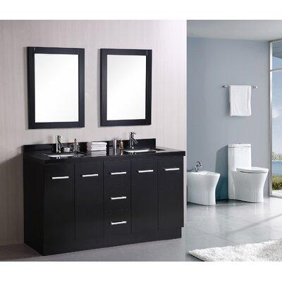 Ridge 60 Double Bathroom Vanity Set