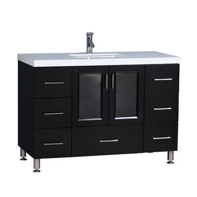 Karson 48 Single Bathroom Vanity Set Base Finish: Espresso