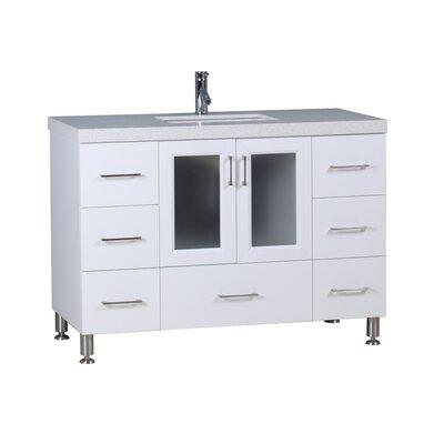 Karson 48 Single Bathroom Vanity Set Base Finish: White