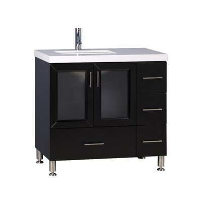 Karson 36 Single Bathroom Vanity Set Base Finish: Espresso