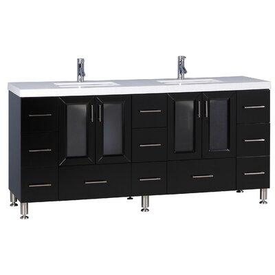 Karson 72 Double Bathroom Vanity Set Base Finish: Espresso