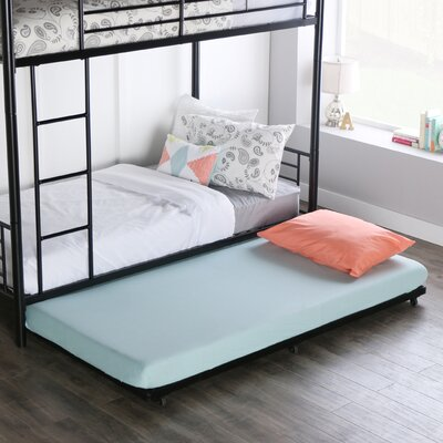Malia Twin Trundle Bed Color: Black