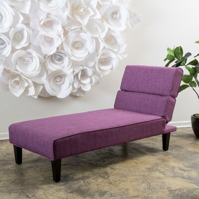 Joanne Chaise Lounge Upholstery Type: Polyester Blend - Fuchsia