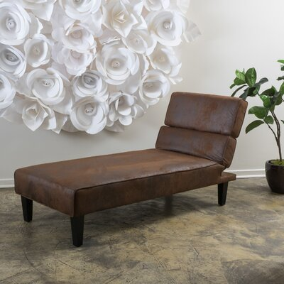 Joanne Chaise Lounge Upholstery Type: Microfiber - Brown