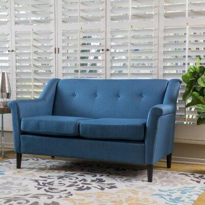 Bocan Modern Loveseat Upholstery: Navy Blue