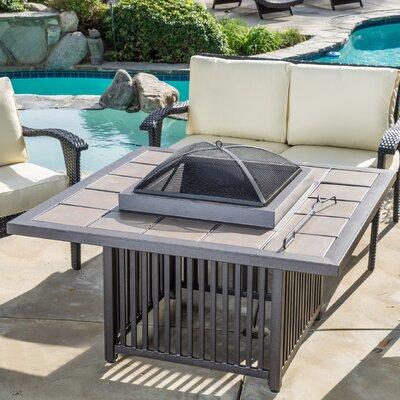 Home Loft Concepts Fome1109 22813146 Cicero Aluminum Wood Burning Fire Pit Table