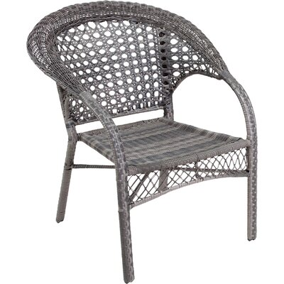 Wicker Club Chair Finish: Grey