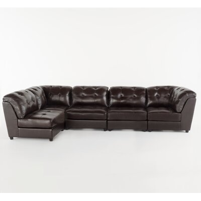 Zild Sectional Upholstery: Brown
