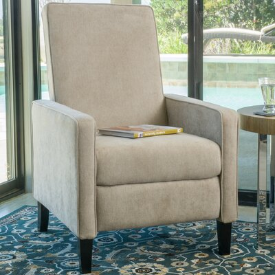 Erick Natural Linen Recliner Finish: Natural Linen