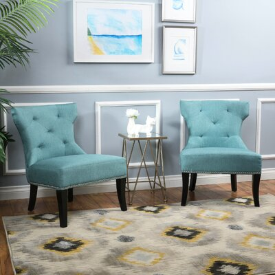 Harvey Slipper Chair Upholstery: Blue