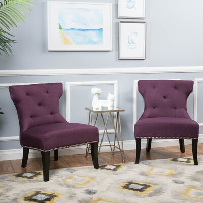 Harvey Slipper Chair Color: Deep Purple