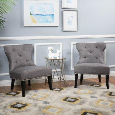 Harvey Slipper Chair Color: Brown/White