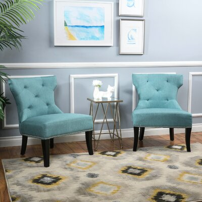 Harvey Slipper Chair Color: Blue