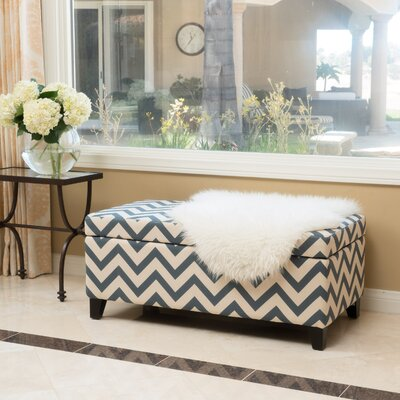 Connie Storage Ottoman Color: Navy/White