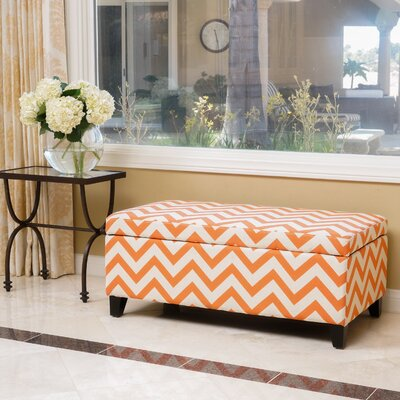 Connie Storage Ottoman Color: Orange