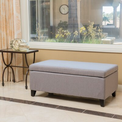 Connie Storage Ottoman Upholstery: Light Gray