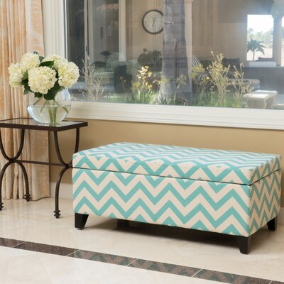 Connie Ottoman Finish: Light Blue/White