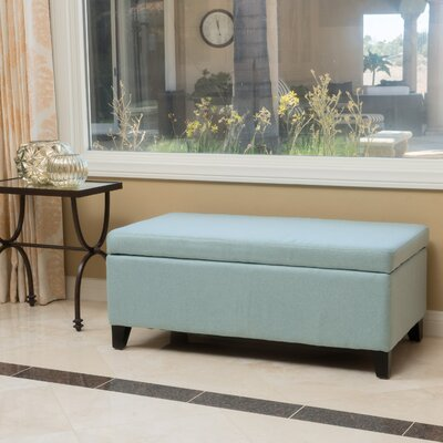 Connie Ottoman Upholstery: Light Blue