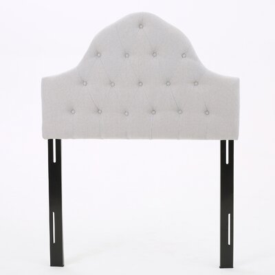 Arria Twin Panel Headboard Upholstery: Light Grey