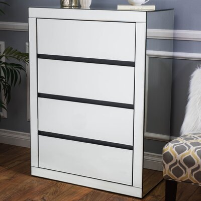 4 Drawer Mirrored Chest