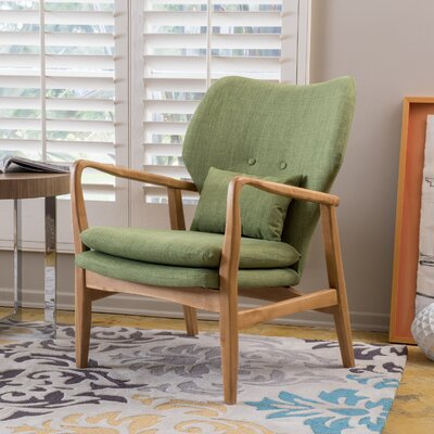 Isabella Accent Arm Chair Upholstery: Green