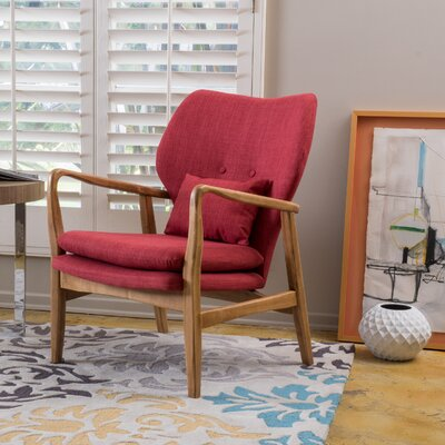 Isabella Accent Arm Chair Upholstery: Red