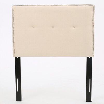 Samuel Twin Upholstered Panel Headboard Upholstery: Beige