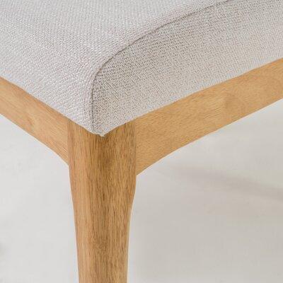 Joseph Side Chair Upholstery: Light Beige, Finish: Natural Oak