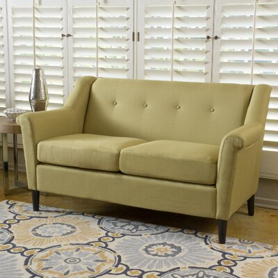 Bocan Modern Loveseat Upholstery: Green Yellow